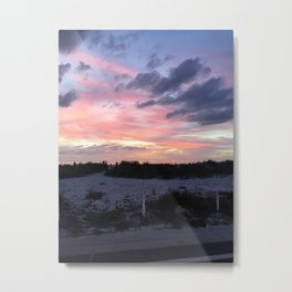 Beach Night Metal Print