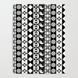 PATTERNED STRIPE Poster