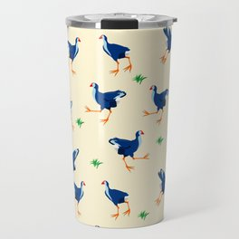 Pukeko swamp hen pattern Travel Mug