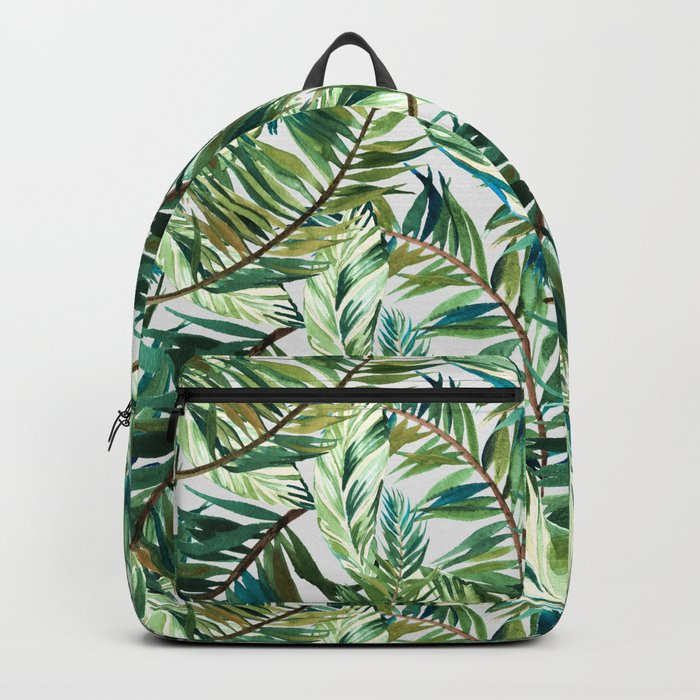 Leaf the jungle watercolor pattern Backpack