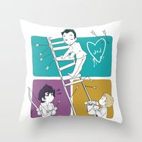 moriarty Throw Pillows featuring Catch Moriarty! by sadyna