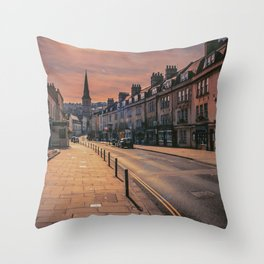Bath Somerset Lockdown morning empty street ART  Throw Pillow