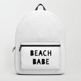 Beach Babe Summer Decor Phrase Backpack