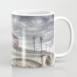 Battersea Bridge London Snow Coffee Mug