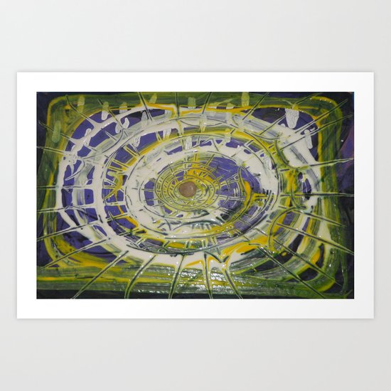 Earth Goddess Abstract Art Art Print