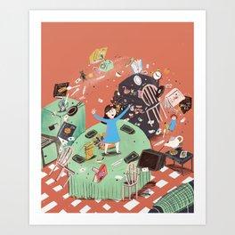 Amazing little girl Art Print