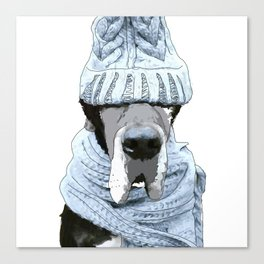 Great Dane Winter is Here Canvas Print