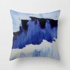 Cold Blue Throw Pillow