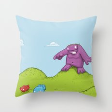 Marshmallow Hunting Throw Pillow
