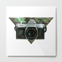 Pentax K1000 (Green Nebula) Metal Print