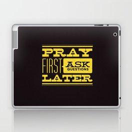 Pray First Laptop & iPad Skin