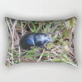Black Beetle portrait Rectangular Pillow