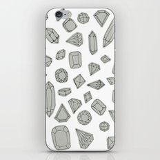 doodle crystals on white iPhone Skin
