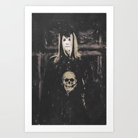 motivational Art Prints featuring Gothic Motivational  by Galen Valle