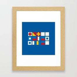 NAUTICAL FOR PETE'S SAKE Framed Art Print