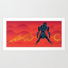 VEKTOR KNIGHT Art Print