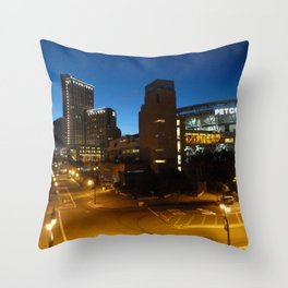 Petco Park at Night Throw Pillow