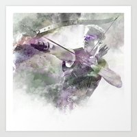 clint barton Art Prints featuring Clint Barton  by NKlein Design
