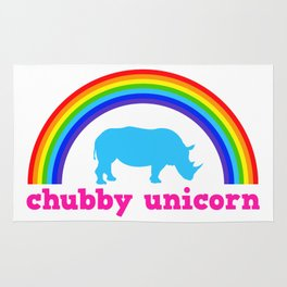 Chubby unicorn Rug