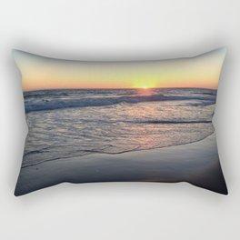 Reflections at Sunset on a California Beach Rectangular Pillow