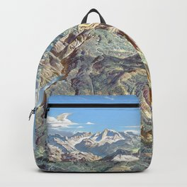 Heinrich Berann - Panoramic Painting of Yosemite National Park (1989) Backpack