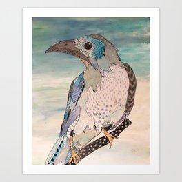 smart bird Art Print