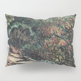 Lighted Path Through Green - Oil on canvas painting Pillow Sham