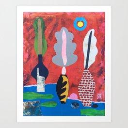 Feather Vases Art Print