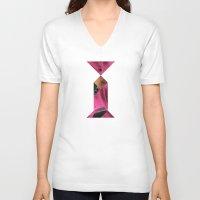 queen V-neck T-shirts featuring QUEEN by TANGRAMMAR