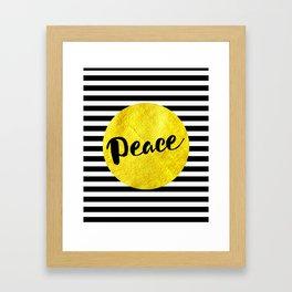 Peace 01 Framed Art Print
