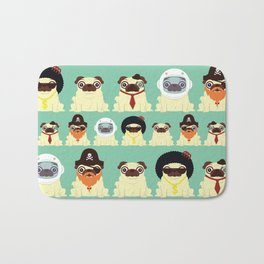 Pug pattern Bath Mat