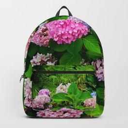 Multi-colored Hydrangeas Backpack
