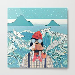 Walrus and the paper boats Metal Print