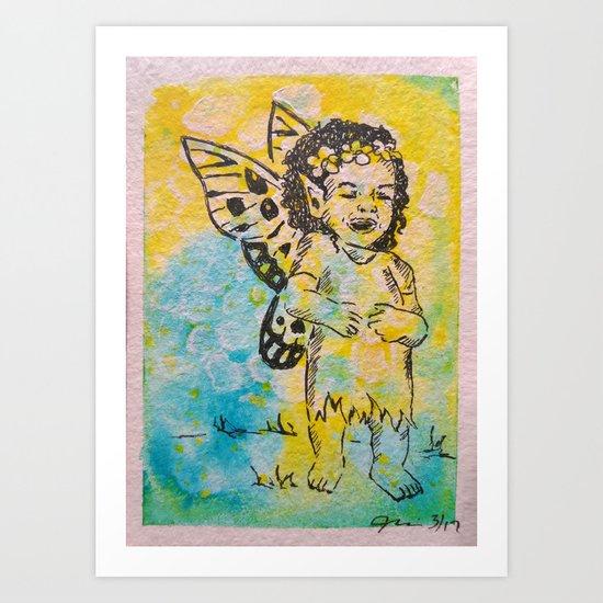 Sheer Delight ( Laughing Fairy ) Art Print