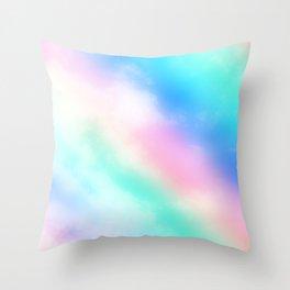 Rainbow Pastel Throw Pillow