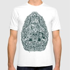 kill the tiger White Mens Fitted Tee MEDIUM