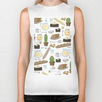 bread Biker Tanks featuring Bread by Ceren Aksu Dikenci