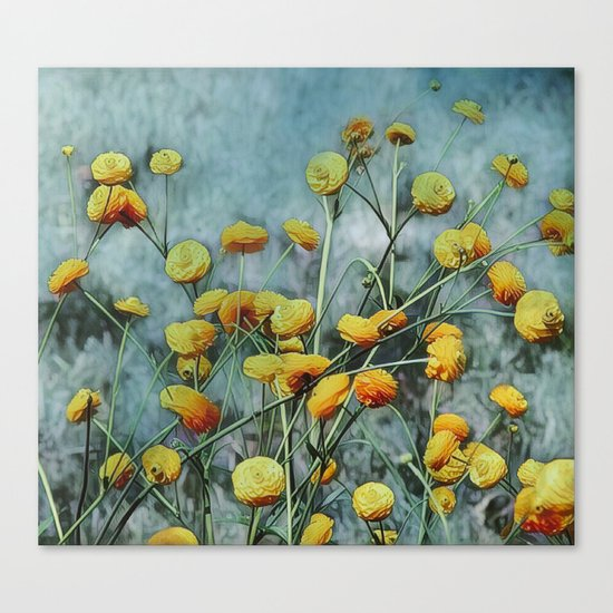 Summers Yellow Canvas Print