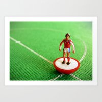 arsenal Art Prints featuring Arsenal Subbuteo Player 1989 by Tabletop Legends