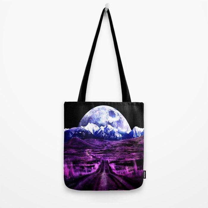 Highway to Eternity (moon mountain) Fuchsia Tote Bag