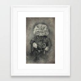 Colonel Puss Framed Art Print