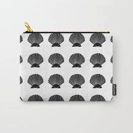 Black Seashell Carry-All Pouch