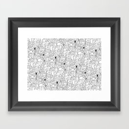 Little Escher's Building Blocks Framed Art Print
