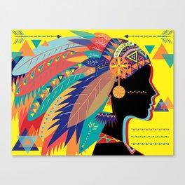 Native Indian Canvas Print