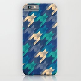 Origami houndstooth blues iPhone Case