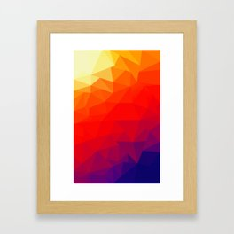 Censored Sunrise Framed Art Print