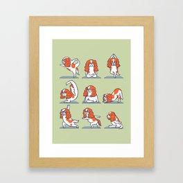 Cavalier King Charles Spaniel Yoga Framed Art Print