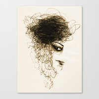 transparent Canvas Prints featuring Transparent by Sofia Karlström