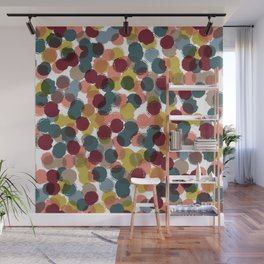 Dropped Dots Wall Mural