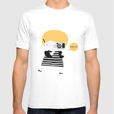 The blonde photographer Mens Fitted Tee White MEDIUM